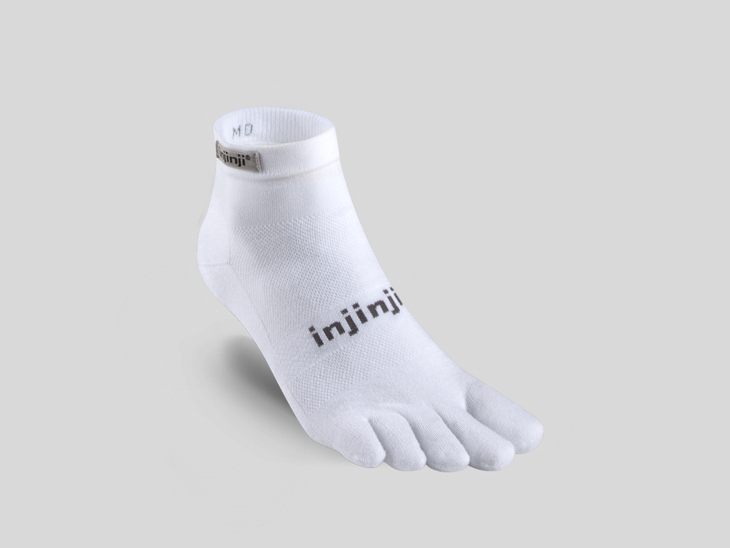 Injinji tåstrumpor för löpare Run LW Mini-C White