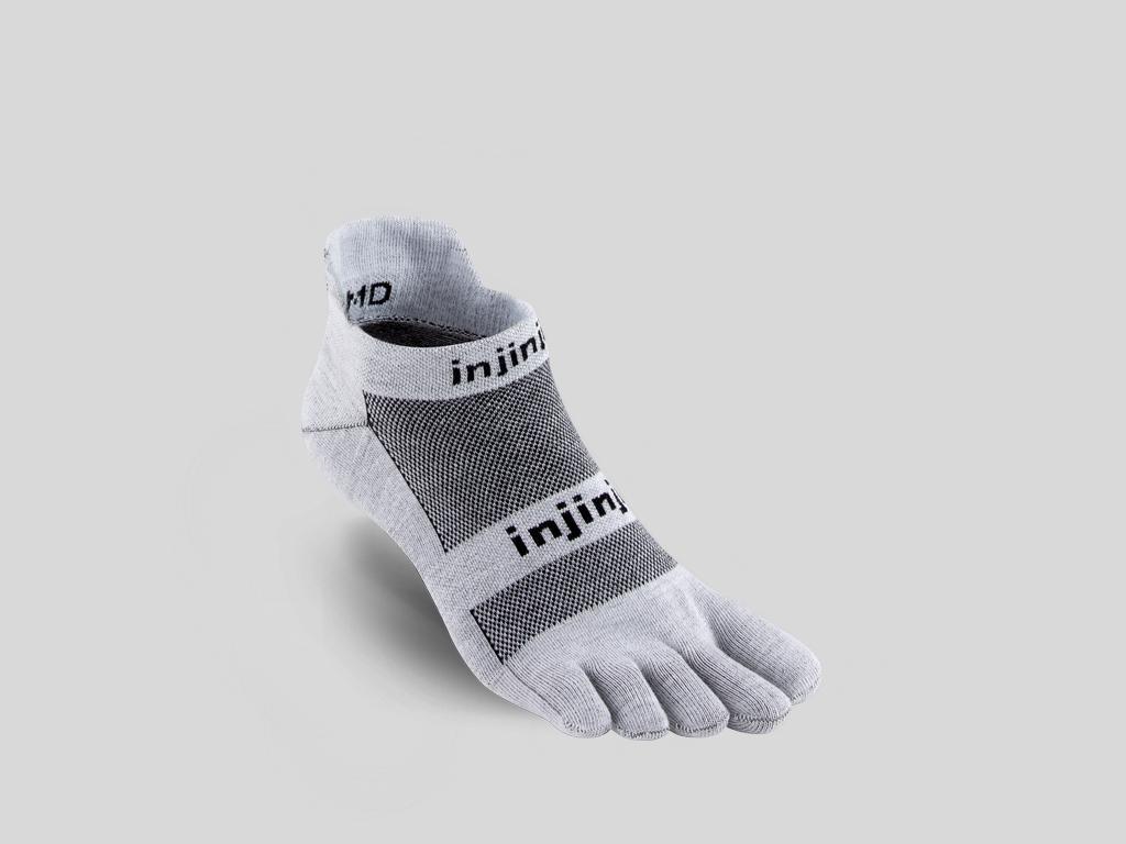Injinji tåstrumpor för löpare Run LW No-Show Gray