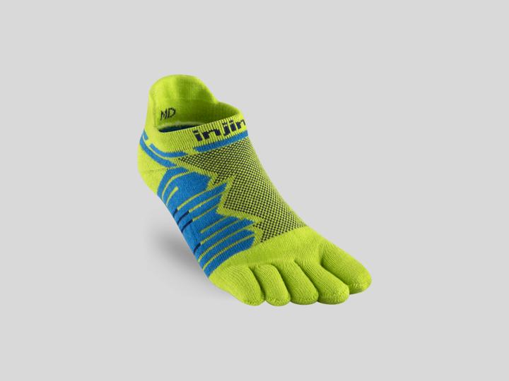 Injinji tåstrumpor för Ultralöpare Ultra Run No-Show Lime