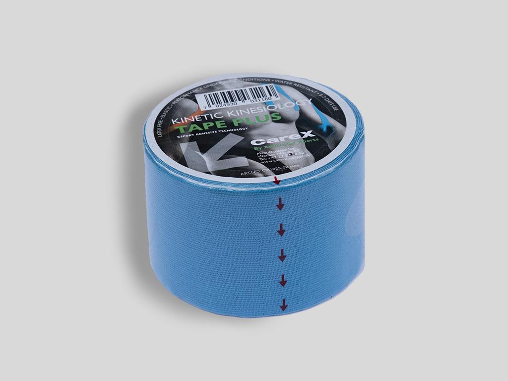 Carex Elastic Kinesiology Tape Plus  - blå