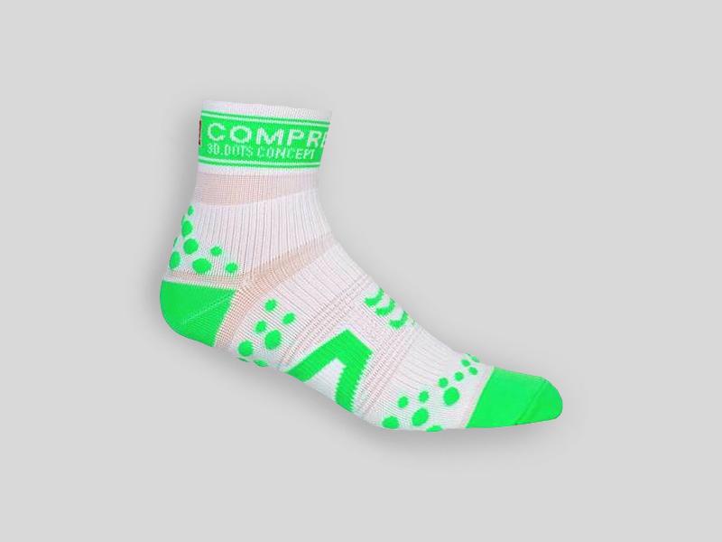 Compressport Löparstrumpor Pro Racing Socks V2.1 Run High grön