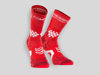 Compressport Löparstrumpor Racing Socks V2.1 Trail Hi Röd