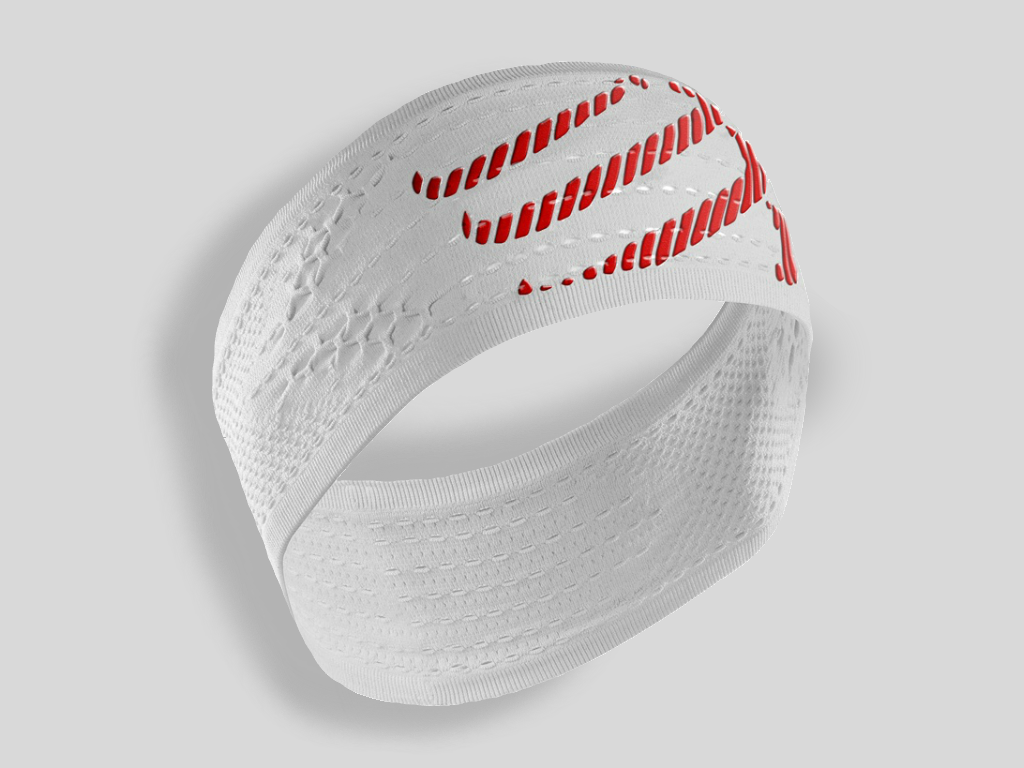 Compressport Pannband / Headband ON/OFF Vit