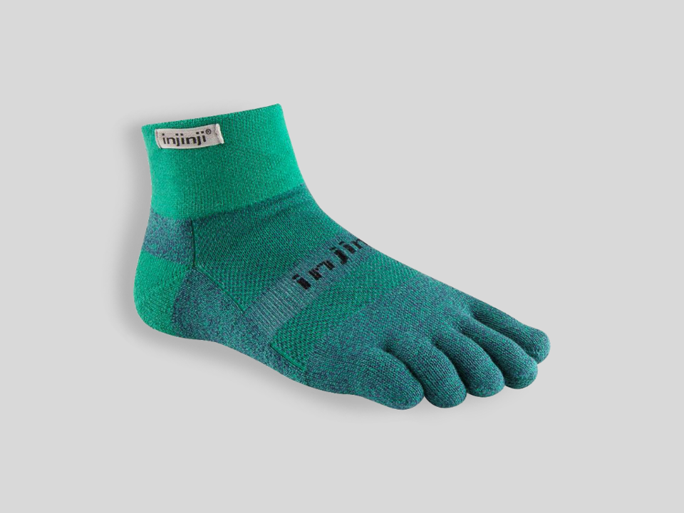 Injinji tåstrumpor för löpare Trail Mini-C Emerald
