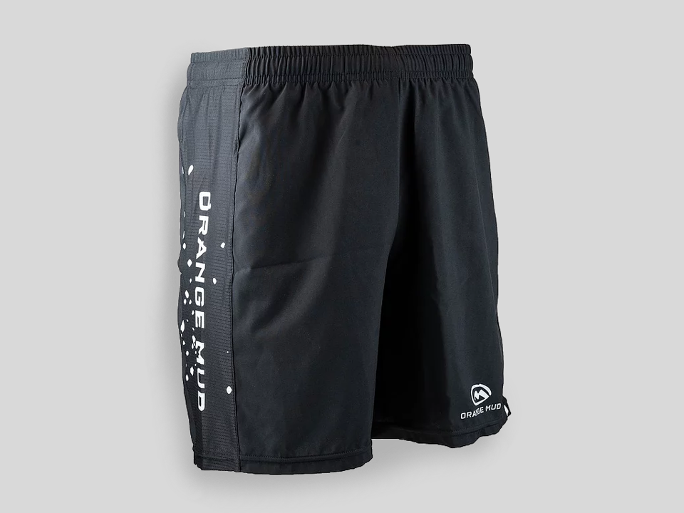 "Orange Mud Running Short 6"" Black Herr"