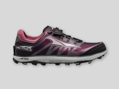 Altra King MT 2-W Black/Rose - Trailsko med Vibram Megagrip sula