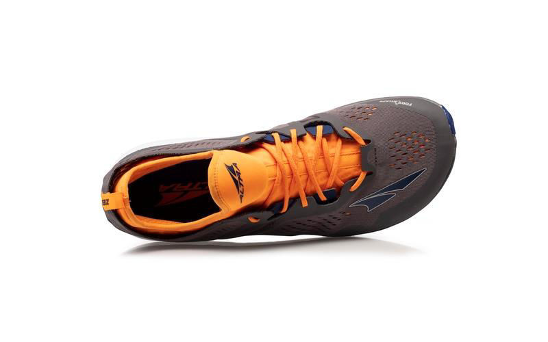 Altra Kayenta-M Gray/Orange - lätt löparsko för träning på asfalt/grus herrmodell