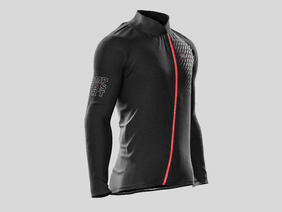 Compressport Hurricane Jacket v2 Black - Löparjacka