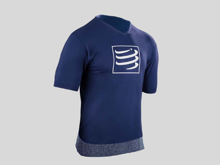 Compressport Training T-shirt Blue - Herr<