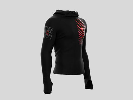 Compressport Thermo Racing Hoodie Black - Träningströja<