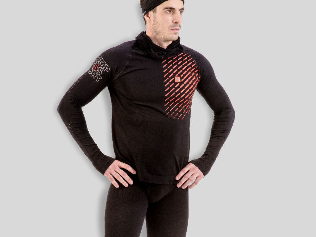 Compressport Thermo Racing Hoodie Black - Träningströja
