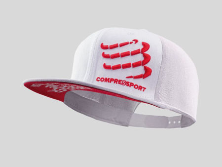Compressport Flat Cap White<