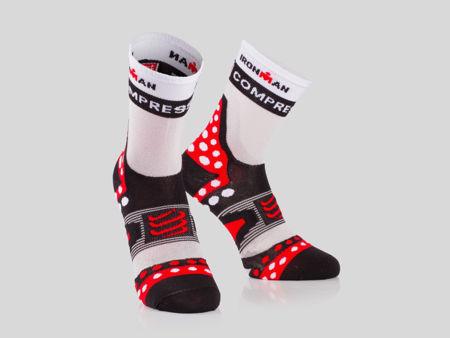 Compressport Racing Socks  V2.1 UL Run Hi IM Black - Löparstrumpor<