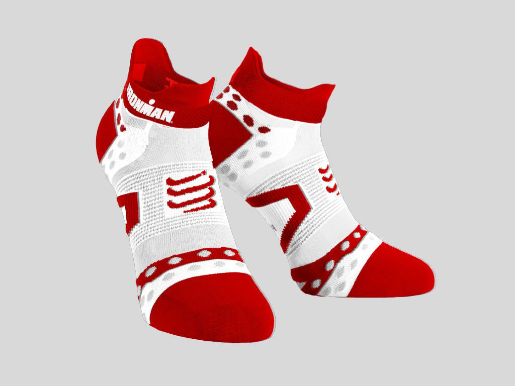 Compressport Pro Racing Socks Ultralight IM Low Röd/White