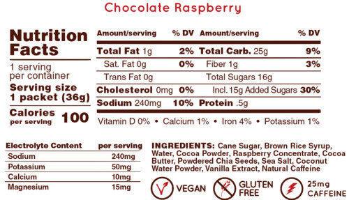 Hüma Energi Gel + - Chocolate Raspberry