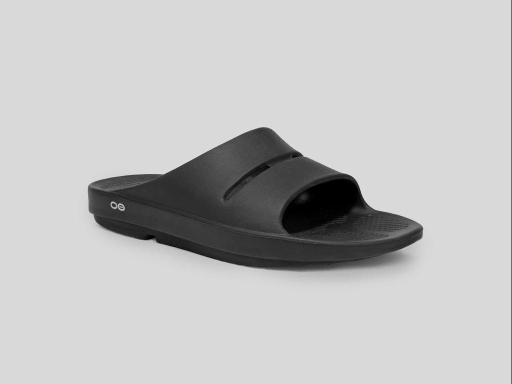 Oofos Sandal för återhämtning Ooahh Black Slide