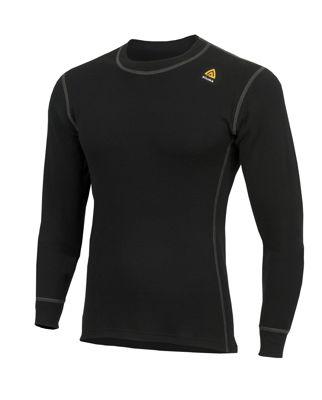 Fr�n Norska Aclima kommer WarmWool Crew Neck shirt  i finaste Merinoull. F�rgen heter Jet Black och finns i storlek: XS-3XL. Passar b�st till Herr