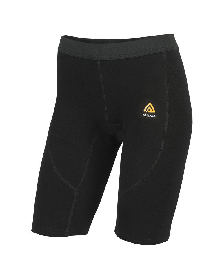 Fr�n Norska Aclima kommer WarmWool Shorts (long)  i finaste Merinoull. F�rgen heter Jet Black och finns i storlek: XS-2XL. Passar b�st till Dam
