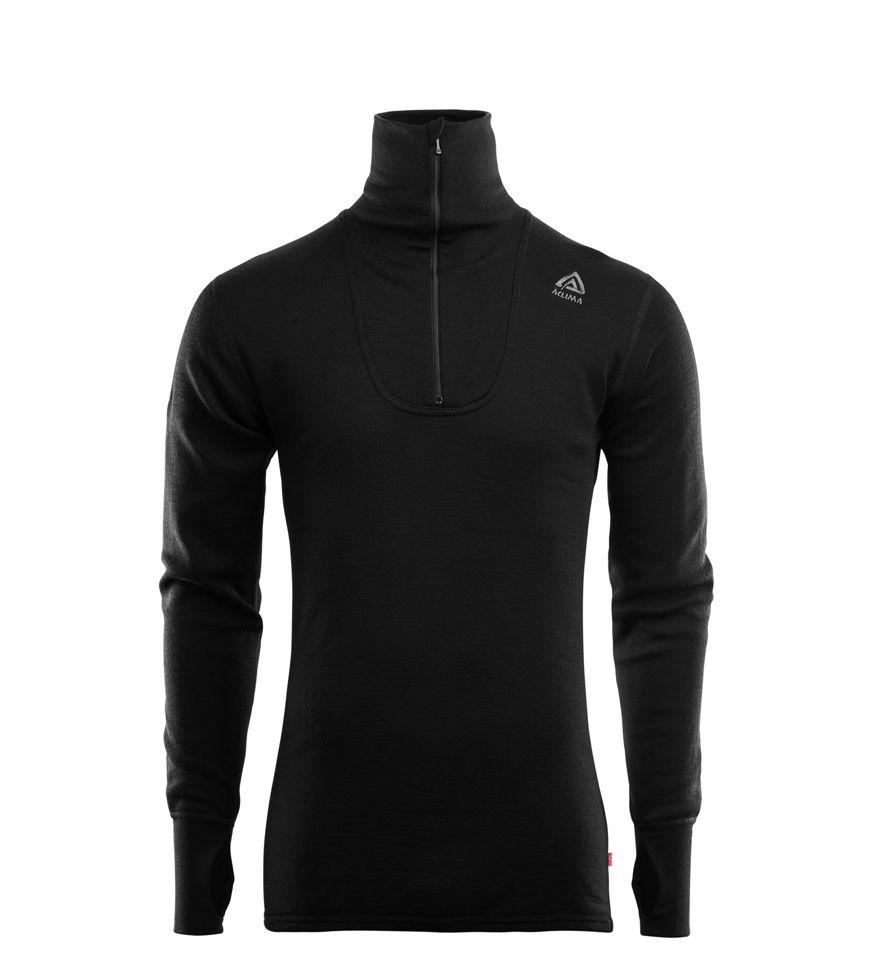 Fr�n Norska Aclima kommer DoubleWool Polo Shirt zip  i finaste Merinoull. F�rgen heter Jet Black/Marengo och finns i storlek: XS-2XL. Passar b�st till Herr