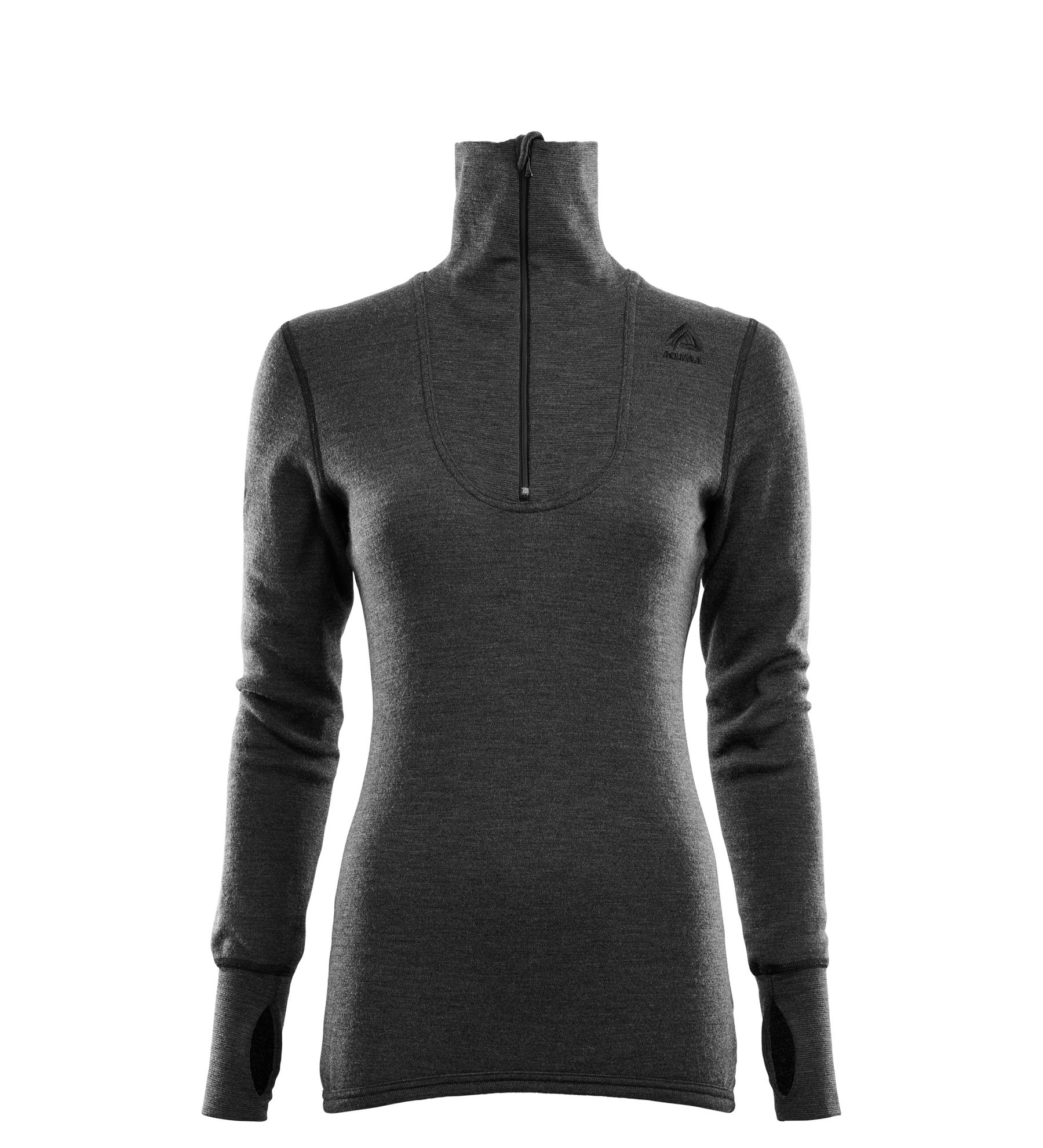 Fr�n Norska Aclima kommer DoubleWool Polo Shirt zip, Wom i finaste Merinoull. F�rgen heter Marengo/Jet Black och finns i storlek: XS-2XL. Passar b�st till Dam