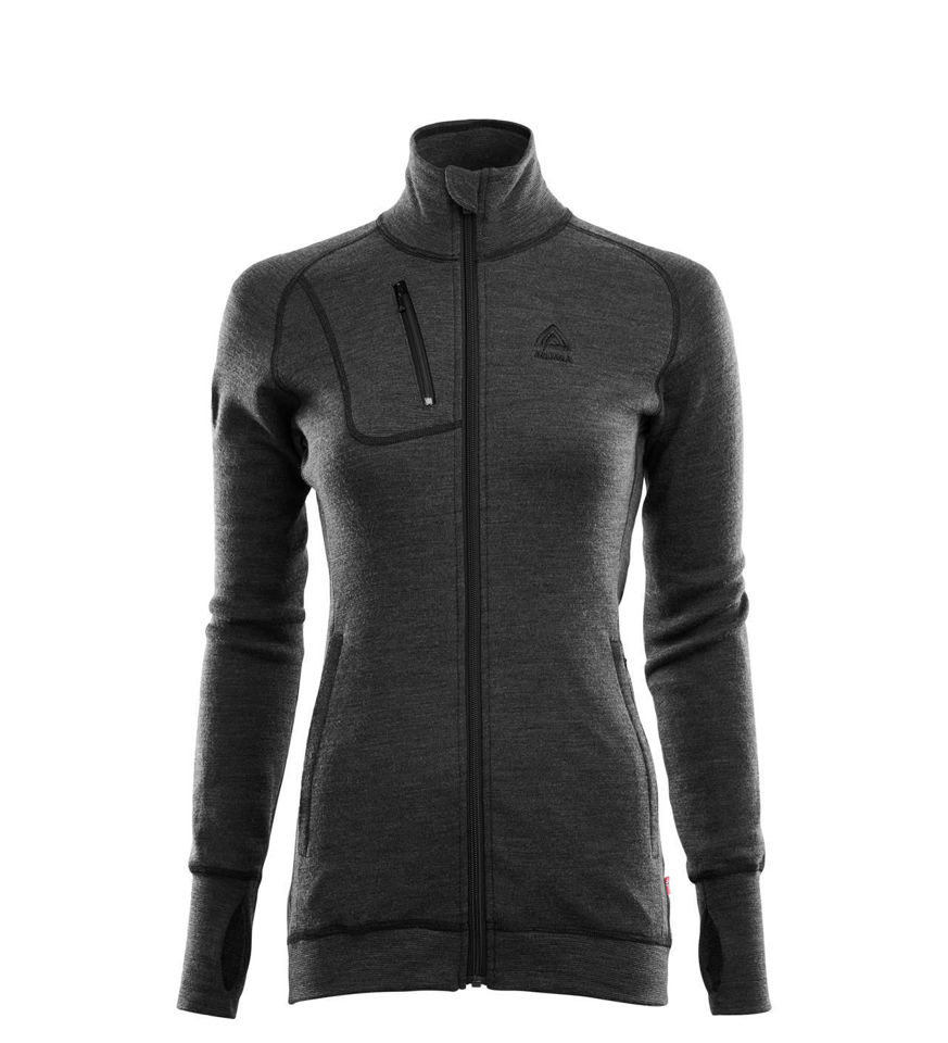 Aclima DoubleWool Jacket, dam i Merinoull - Marengo/Jet Black