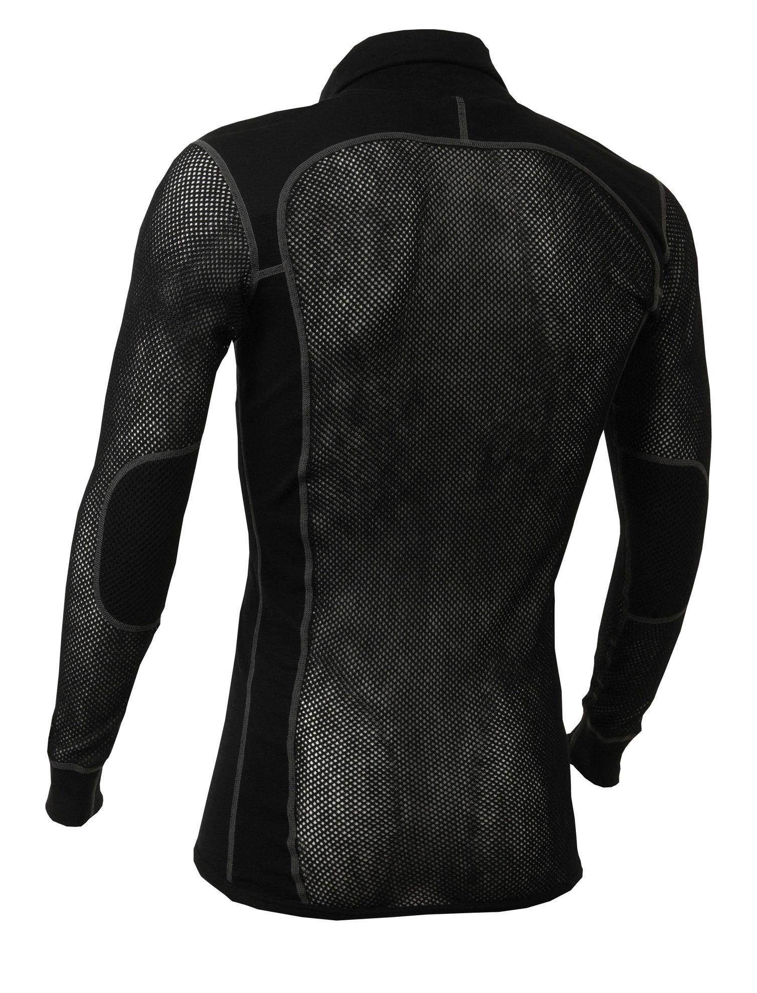 Bild på Aclima WoolNet Polo Shirt with zip Herr i Merinoull - Jet Black