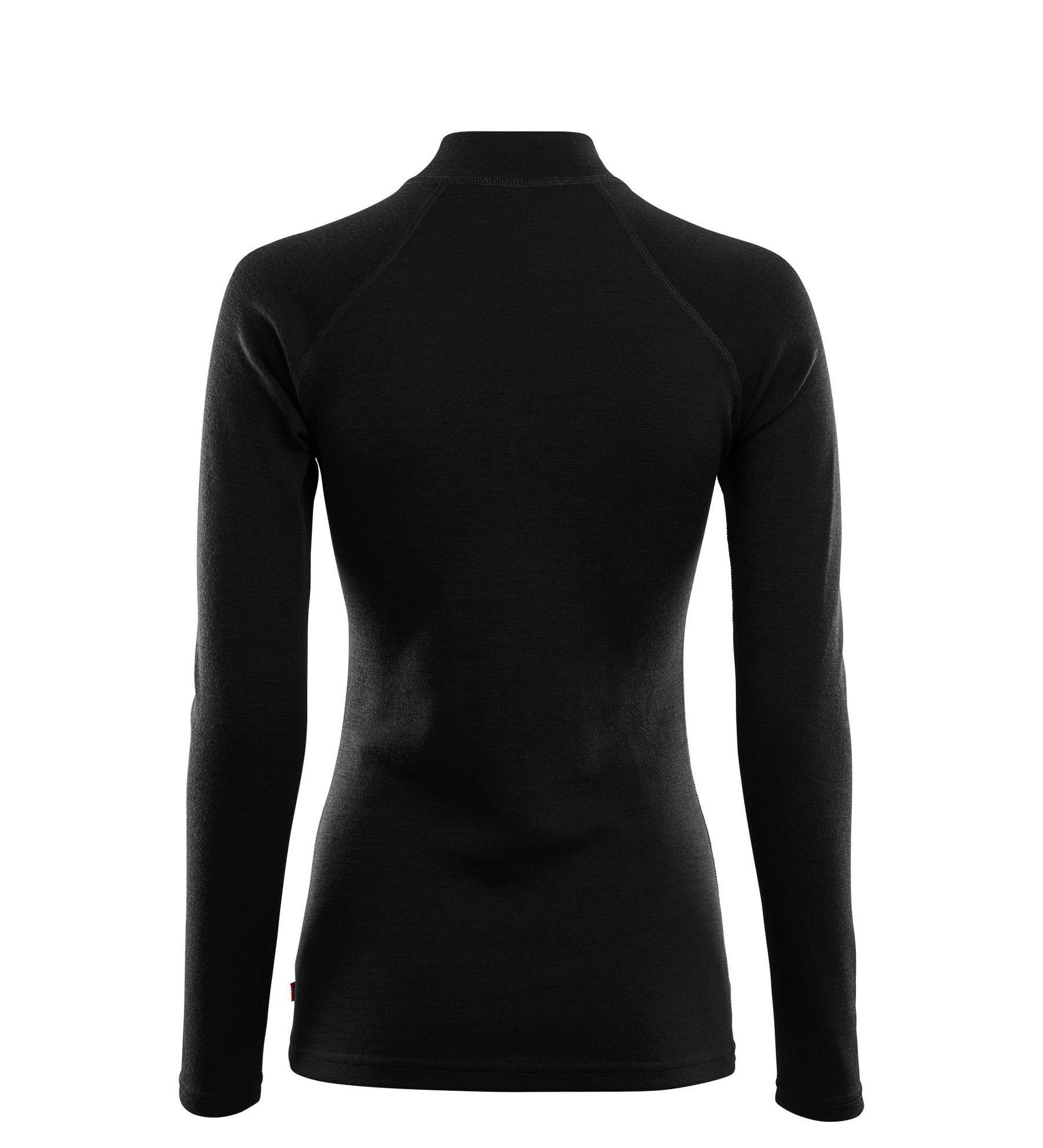 Aclima WarmWool Mock Neck shirt, Woman i Merinoull - Jet Black