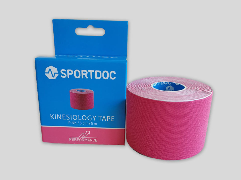 KinesioTejp 50mm x 5m rosafärgad från sportdoc