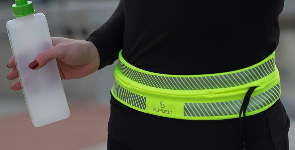 FlipBelt Running Reflective med Zipper