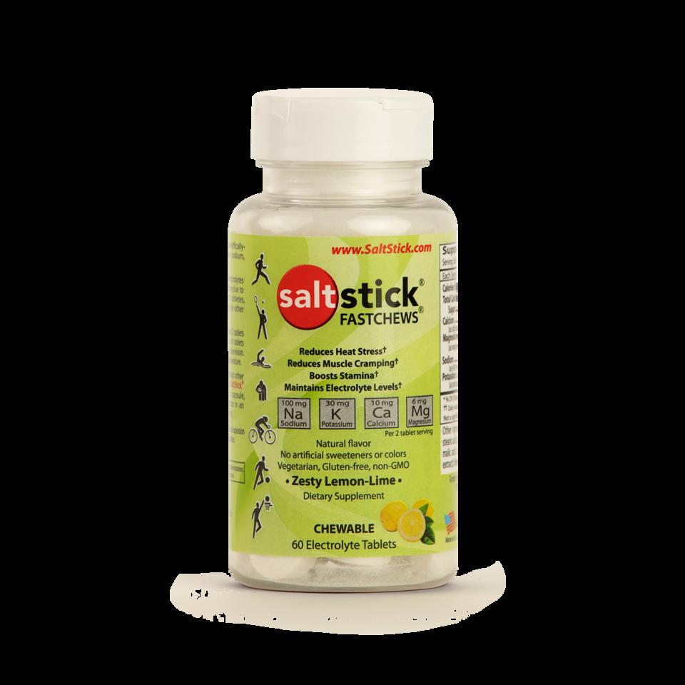 SaltStick Fastchews Lemon-Lime - 60st Elektrolyt tuggtabletter med citronsmak