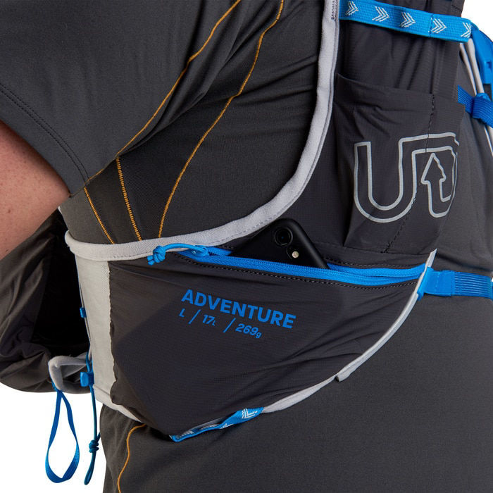 Ultimate Direction Adventure Vest 5 Night Sky, löparväst 17 L inkl. flaska